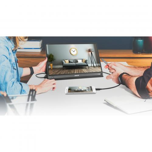 "Asus ZenScreen GO MB16AHP 15.6"" Full HD WLED LCD Monitor   16:9   Black, Gray Alternate-Image3/500"