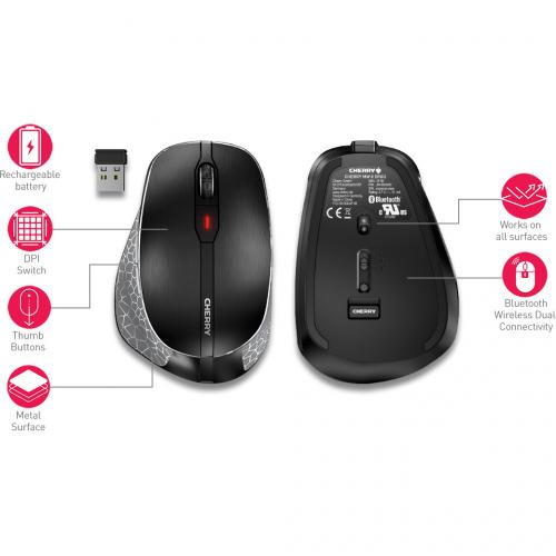 CHERRY MW 8 Ergo Rechargeable Wireless Mouse Alternate-Image3/500
