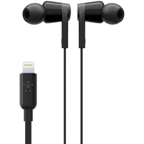 Belkin ROCKSTAR Headphones With Lightning Connector   Stereo   Lightning Connector   Wired   Earbud   3.67 Ft Cable Alternate-Image3/500