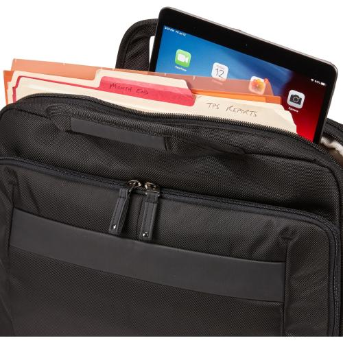 """Case Logic Carrying Case (Briefcase) For 14"""" Notebook, Tablet PC, Portable Electronics, Accessories   Black Alternate-Image3/500"""