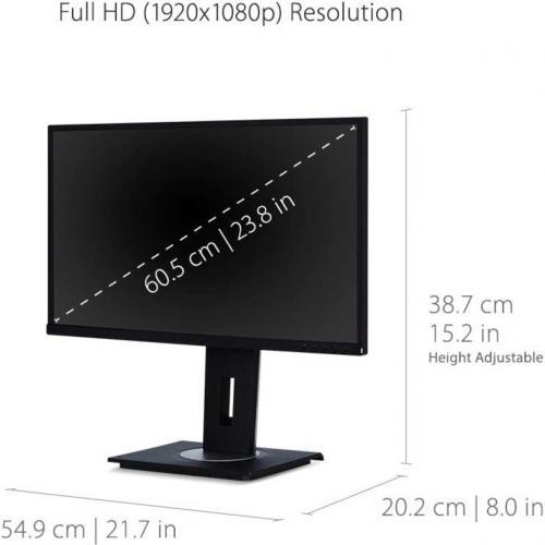 "Viewsonic VG2448 PF 23.8"" Full HD WLED LCD Monitor   16:9 Alternate-Image3/500"