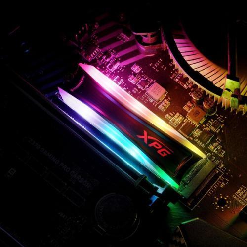 XPG SPECTRIX S40G AS40G 1TT C 1 TB Solid State Drive   M.2 2280 Internal   PCI Express NVMe (PCI Express NVMe 3.0 X4) Alternate-Image3/500