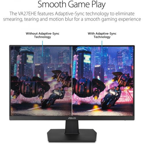 """Asus VA27EHE 27"""" Full HD WLED Gaming LCD Monitor   16:9   Black Alternate-Image3/500"""