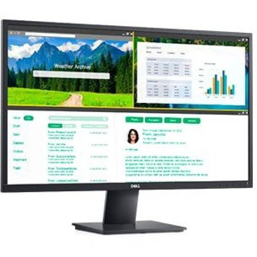 """Dell E2720H 27"""" LCD LED Monitor   1920 X 1080 FHD Display @ 60 Hz   In Plane Switching Technology   DisplayPort HDCP 1.2   Adjustable Tilt Position   5 Ms Response Time (fast) Alternate-Image3/500"""