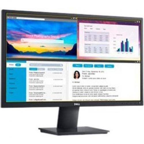 "Dell 24"" E2420H LED LCD Monitor   1920 X 1080 Full HD Resolution   60 Hz Refresh Rate   5ms Response Time   VGA And DisplayPort Inputs   In Plane Switching Technology Alternate-Image3/500"