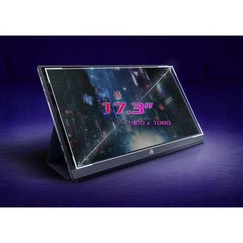 "Asus ROG Strix XG17AHPE 17.3"" Full HD Gaming LCD Monitor   16:9   Black Alternate-Image3/500"
