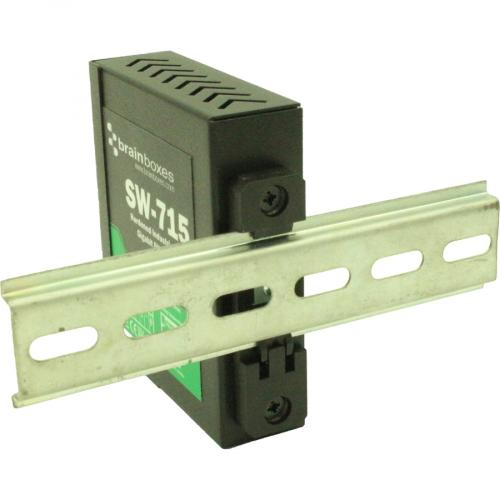 Brainboxes Hardened Industrial 5 Port Gigabit Ethernet Switch DIN Rail Mountable Alternate-Image3/500