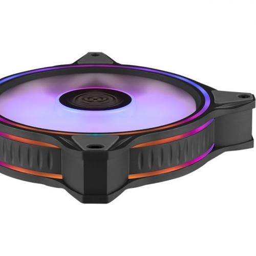 Cooler Master MasterFan MF120 Halo Duo Ring Addressable RGB Lighting 120mm Fan With Independently Controlled LEDs, Absorbing Rubber Pads, PWM Static Pressure For Computer Case & Liquid Radiator Alternate-Image3/500