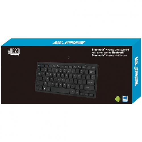 Adesso Bluetooth Wireless SlimTouch Mini Keyboard Alternate-Image3/500