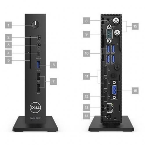 Wyse 5000 5070 Thin Client   Intel Pentium Silver J5005 Quad Core (4 Core) 1.50 GHz Alternate-Image3/500