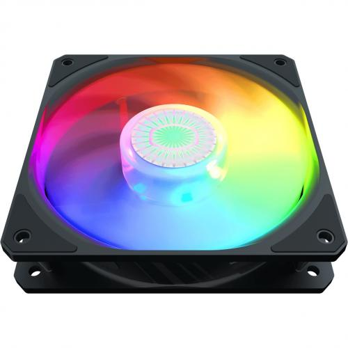 Cooler Master SickleFlow 120 V2 ARGB 120mm Square Frame Fan, Customizable LEDs, Air Balance Curve Blade Design, Sealed Bearing, PWM Control For Computer Case & Liquid Radiator Alternate-Image3/500