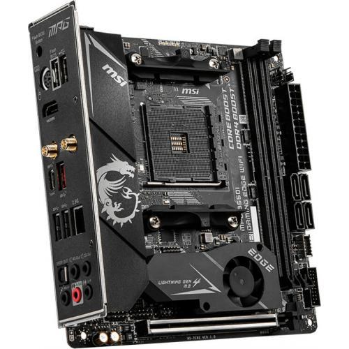MSI MPG B550I GAMING EDGE WIFI Desktop Motherboard   AMD Chipset   Socket AM4   Mini ITX Alternate-Image3/500