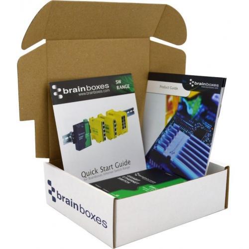 Brainboxes Compact 5 Port Gigabit Ethernet Switch DIN Rail Mountable Alternate-Image3/500