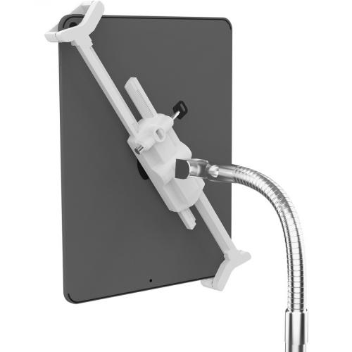 CTA Digital Heavy Duty Medical Mobile Floor Stand For 7 13 Inch Tablets (White) Alternate-Image3/500