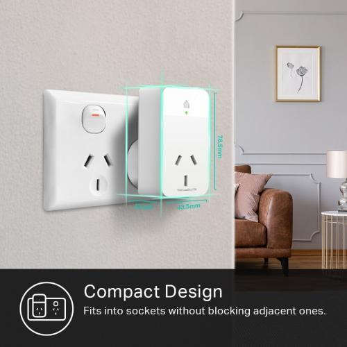 Kasa Smart WiFi Plug Slim With Energy Monitoring Alternate-Image3/500