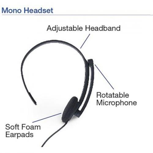 Verbatim Stereo Headset With Microphone And In Line Remote Alternate-Image3/500