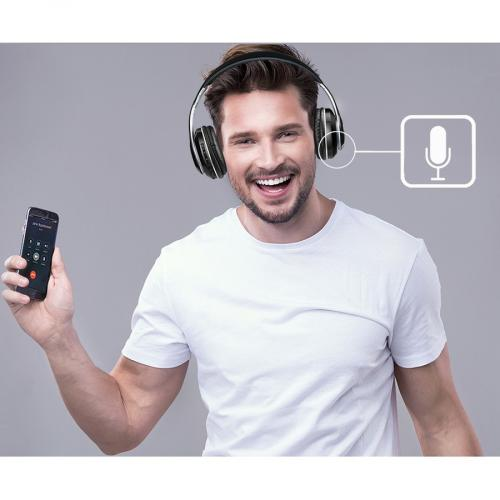 Xtream P500   Bluetooth Stereo Headphone With Built In Microphone Alternate-Image3/500