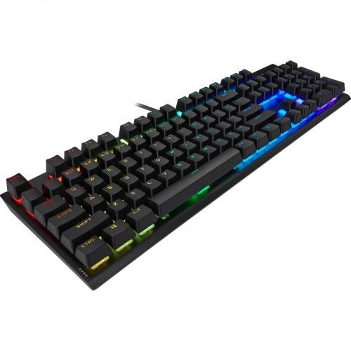Corsair K60 RGB Pro SE Mechanical Gaming Keyboard   Cherry Viola   Black Alternate-Image3/500