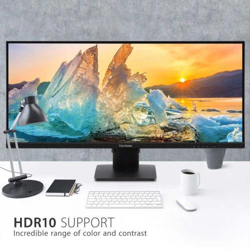 "Viewsonic VA3456 MHDJ 34.1"" WQHD LED LCD Monitor   21:9   Black Alternate-Image3/500"