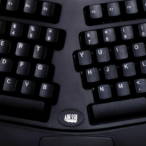 Adesso PCK 208B Tru Form Media Contoured Ergonomic Keyboard Alternate-Image3/500