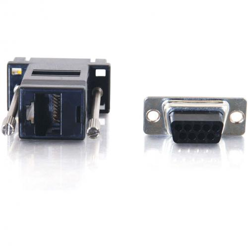 C2G RJ45 To DB9 Female Modular Adapter   Black Alternate-Image3/500