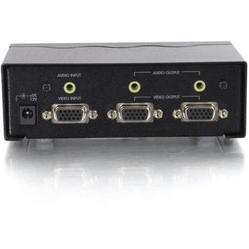 C2G 2 Port UXGA Monitor Splitter/Extender With 3.5mm Audio (Female Input) Alternate-Image3/500