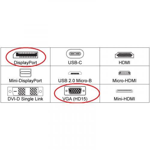 4XEM 6FT DisplayPort To VGA Adapter Cable   Black Alternate-Image4/500