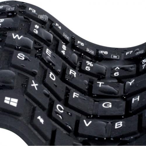 Adesso AKB 212UB   Antimicrobial Waterproof Flex Keyboard (Mini Size) Alternate-Image4/500