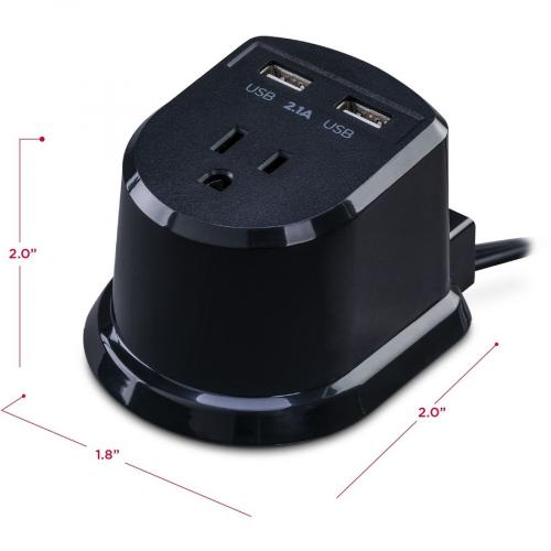 CyberPower CSP105U Dual Power Station 1 Outlet With 2 2.1A USB Charging Ports And 5FT Cord Alternate-Image4/500