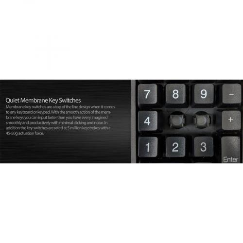 Adesso AKB 618  Antimicrobial Waterproof Numeric Keypad With Wrist Rest Support Alternate-Image4/500