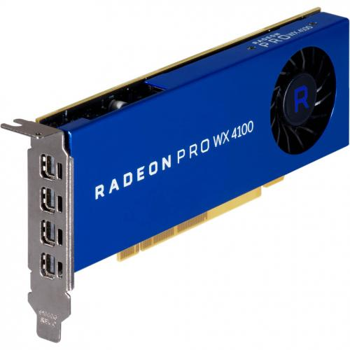 AMD Radeon Pro WX 4100 Graphic Card   4 GB GDDR5   Low Profile Alternate-Image4/500
