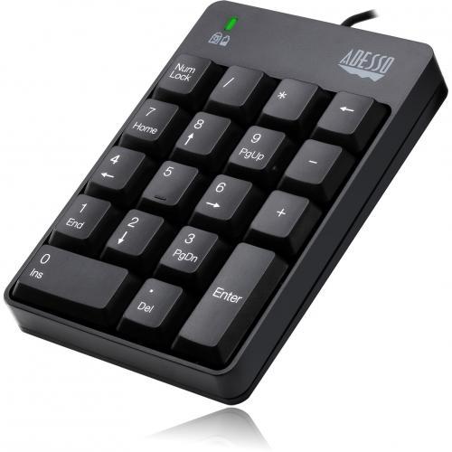 Adesso AKB 601UB   USB Spill Resistant 18 Key Numeric Keypad Alternate-Image4/500