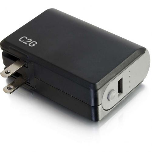 C2G 1 Port USB Wall Charger   AC To USB Adapter With Power Bank, 5V 1A Output Alternate-Image4/500