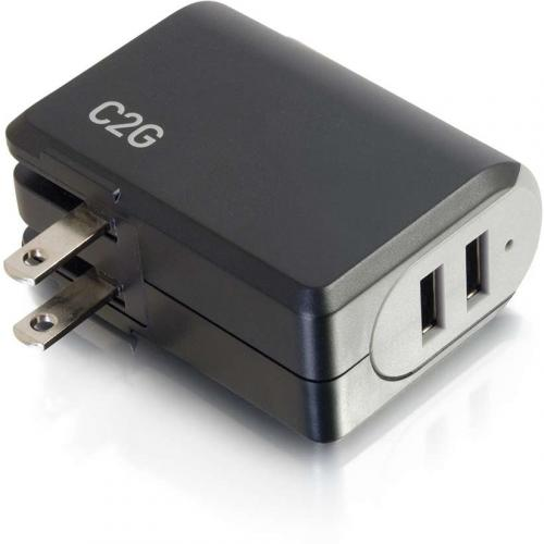C2G 2 Port USB Wall Charger   AC Power Adapter Alternate-Image4/500