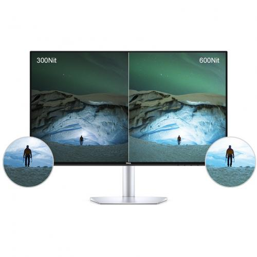 """Dell Ultra Thin 23.8"""" Monitor Black & Silver     1920 X 1080 Full HD Display   5ms Response Time   In Plane Switching Technology   Flicker Free Screen W/ Comfort View   Corning Iris Glass Light  Guide Plate Alternate-Image4/500"""