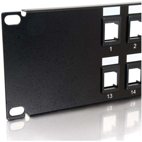 C2G 24 Port Blank Keystone/Multimedia Patch Panel Alternate-Image4/500