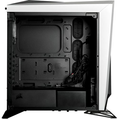 Corsair Carbide Series SPEC OMEGA RGB Mid Tower Tempered Glass Gaming Case   White Alternate-Image4/500