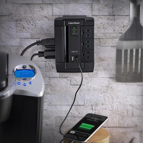 CyberPower Home Office Surge Protection Alternate-Image4/500
