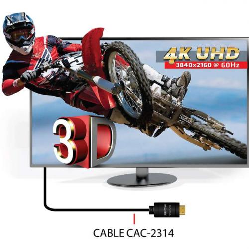 Club 3D CAC 2313 HDMI Audio/Video Cable With Ethernet Alternate-Image4/500