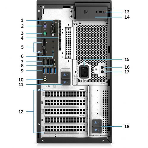 Dell Precision 3630 Workstation Intel Core I7 16GB RAM 1TB HDD 256GB SSD   8th Gen I7 8700K Hexa Core   NVIDIA Quadro P1000 4 GB Graphics   Intel Optane Memory Ready   Tower Form Factor   Windows 10 Pro Alternate-Image4/500