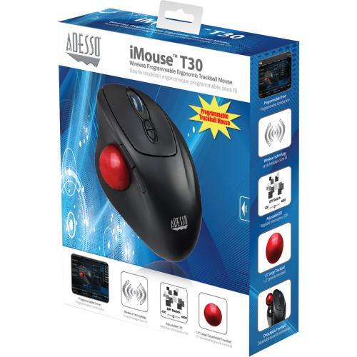 Adesso IMouse T30   Wireless Programmable Ergonomic Trackball Mouse Alternate-Image4/500