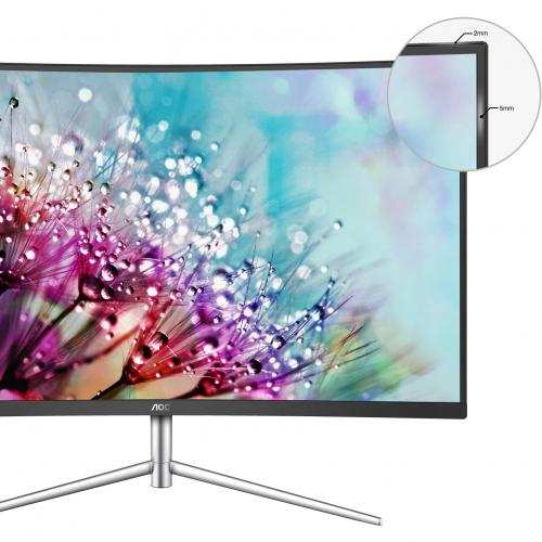 "AOC C32V1Q 31.5"" Full HD Curved Screen LCD Monitor   16:9   Black, Silver Alternate-Image4/500"