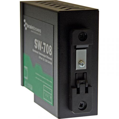 Brainboxes Hardened Industrial Ethernet 8 Port Switch DIN Rail Mountable Alternate-Image4/500