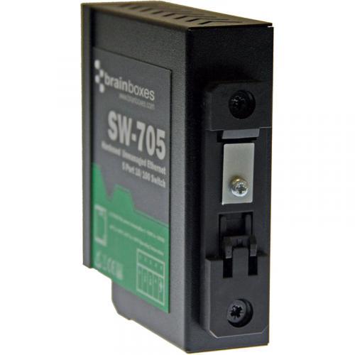 Brainboxes Industrial Hardened Ethernet 5 Port Switch DIN Rail Mountable Alternate-Image4/500