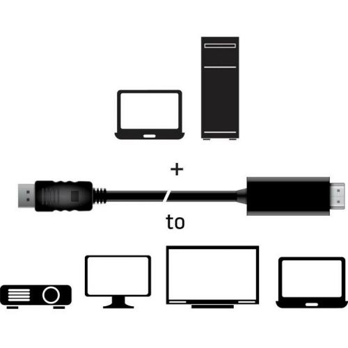 Club 3D DisplayPort 1.4 Cable To HDMI 2.0b Active Adapter Male/Male 2m/6.56 Ft Alternate-Image4/500