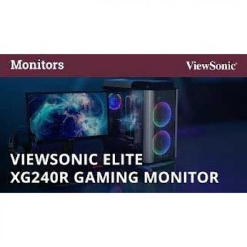 "Viewsonic Elite XG240R 24"" Full HD LED Gaming LCD Monitor   16:9   Black Alternate-Image4/500"