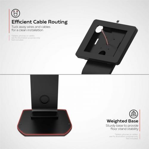 CTA Digital Premium Locking Floor Stand Kiosk Alternate-Image4/500