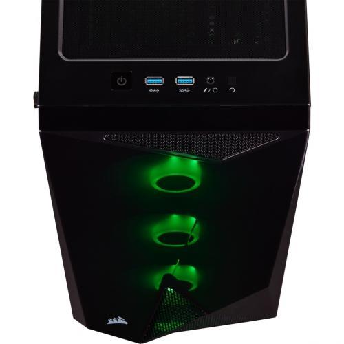Corsair Carbide Series SPEC DELTA RGB Tempered Glass Mid Tower ATX Gaming Case   Black Alternate-Image4/500