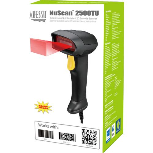 Adesso NuScan 2500TU Spill Resistant Antimicrobial 2D Barcode Scanner Alternate-Image4/500