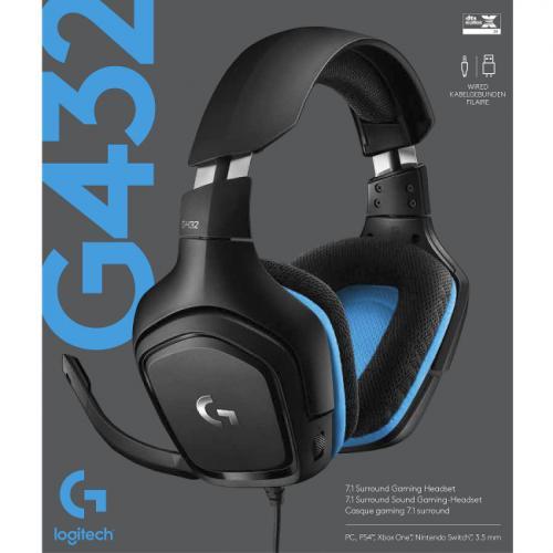 Logitech G432 7.1 Surround Sound Gaming Headset Alternate-Image4/500